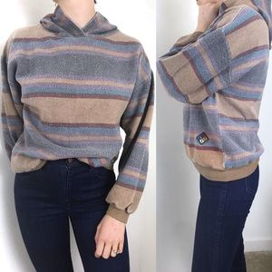 Vintage • Striped GUTS Multicolor Hooded Sweater
